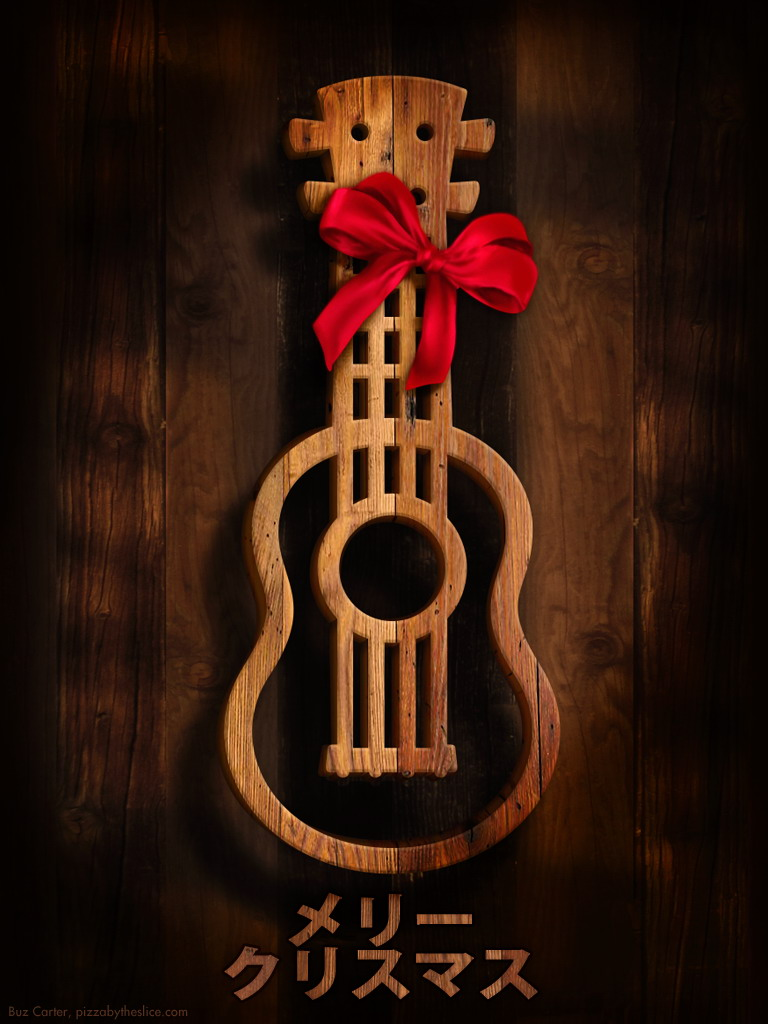 """Ukulele """"Old West"""" Holiday iPad & iPhone Wallpapers 