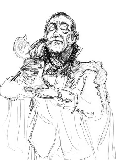 dracula sketch - the drawing club
