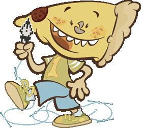 Toothie Pizza Slice Mascot