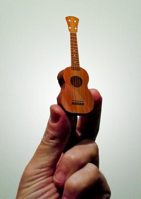 papercraft ukulele pizza   slice
