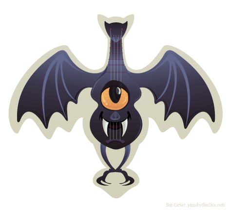 Halloween vampire bat ukulele