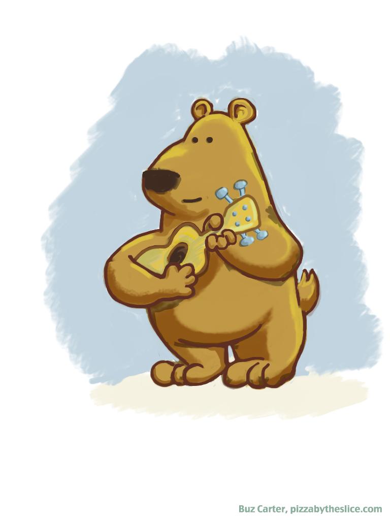 The Yosemite Ukulele Rangers Dancing Bear Mascot Ipad