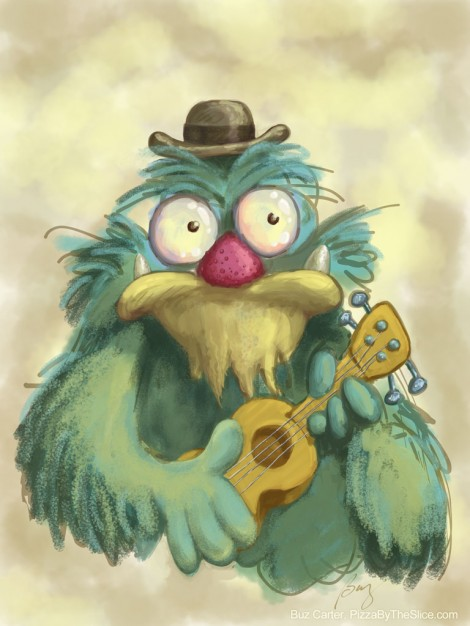 Muppet with Ukulele (sketch)