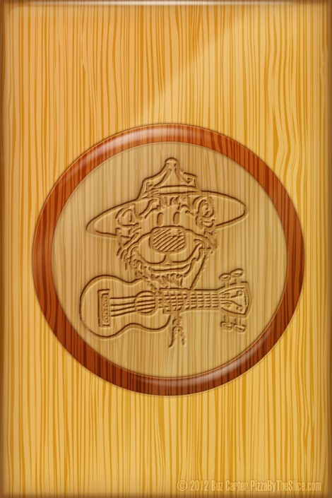 Ukulele Rangers Bear Logo iPhone retina display wallpaper