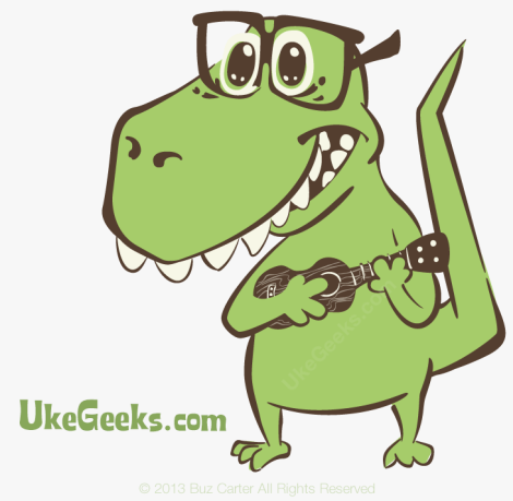 ukegeeks-dino-with-ukulele-mascot