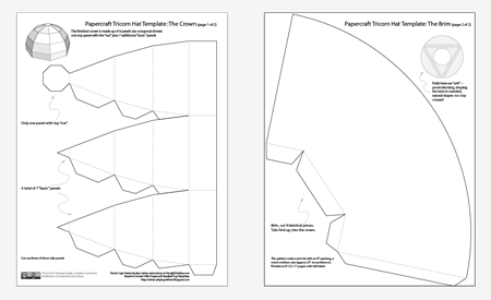 colonial hat template - pin colonial tricorn hat tricorner on pinterest