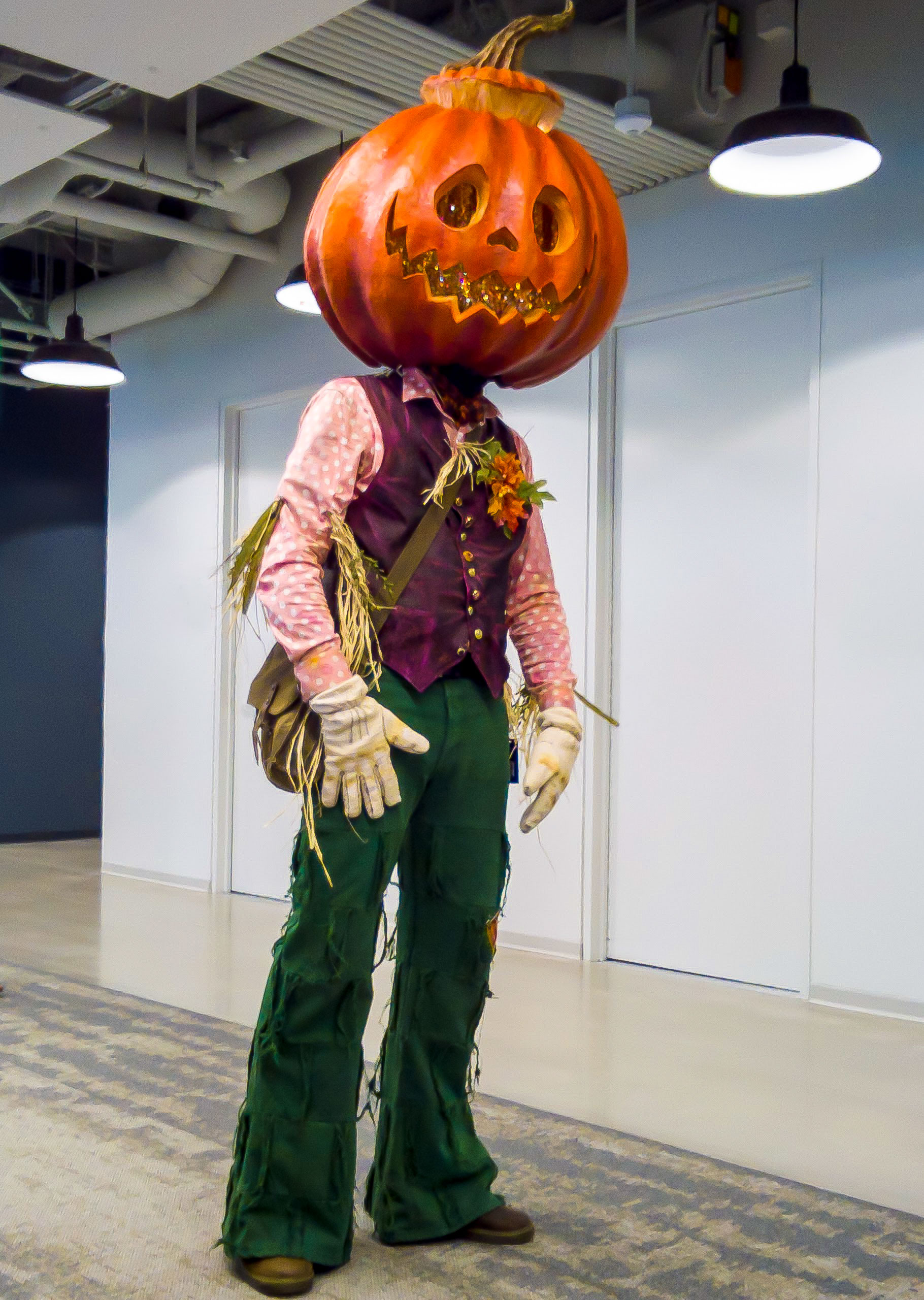 At the office Halloween party & Jack Pumpkinheadu201d Halloween Costume Build | Pizza By The Slice
