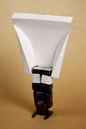 Diy Template For Camera Flash Diffuser Hood Pizza By The